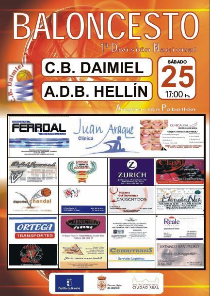 cartel jornada 6 CB Daimiel vs ADB Hellin